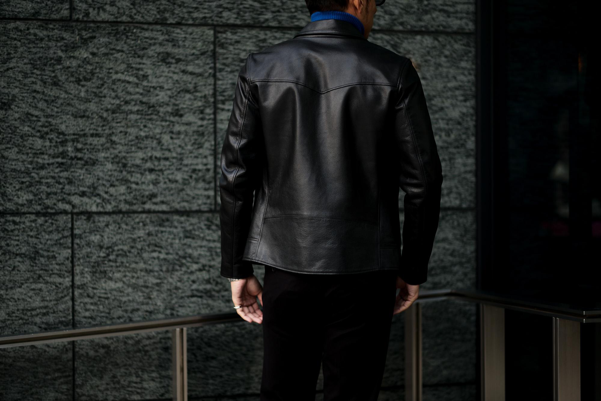 cuervo bopoha (クエルボ ヴァローナ) Satisfaction Leather Collection (サティスファクション レザー コレクション) TOM (トム) BUFFALO LEATHER (バッファロー レザー) シングル ライダース ジャケット BLACK (ブラック) MADE IN JAPAN (日本製) 2020 秋冬新作 クエルボ レザージャケット 愛知 名古屋 alto e diritto アルトエデリット セレクトショップ