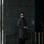 De Petrillo (デ ペトリロ) PETRUCCI (ペトルッチ) カシミアウールツイード グレンチェック バルカラー ベルテッド コート BLACK × GREY (ブラック × グレー・607) Made in italy (イタリア製) 2020 秋冬新作のイメージ