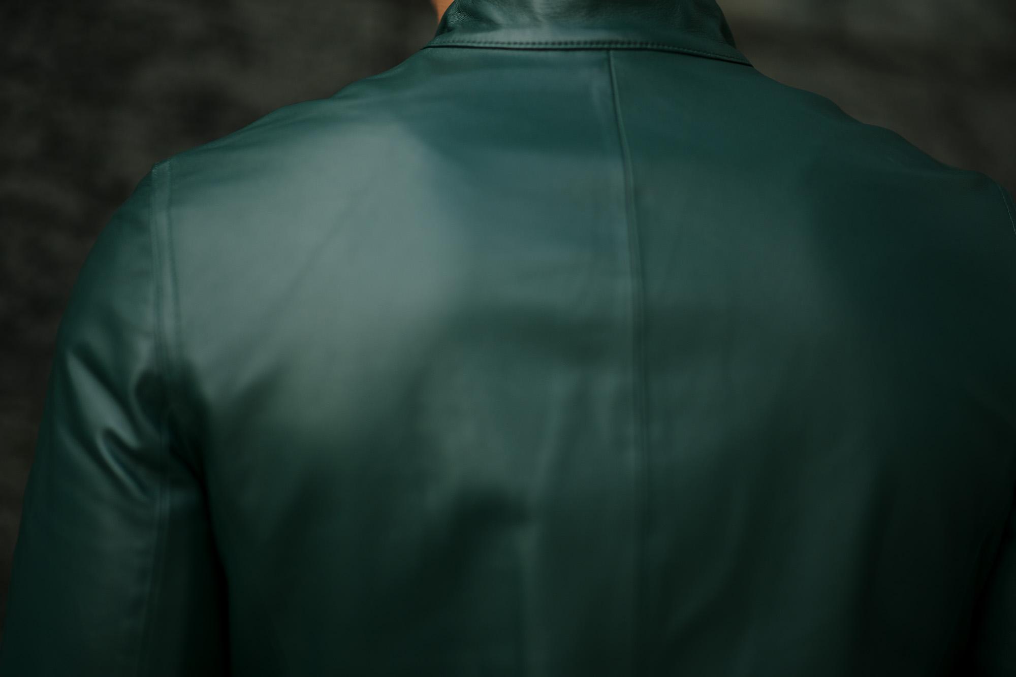 EMMETIエンメティ JOSEPH ジョセフ Lambskin Nappa Leather ラムナッパ レザー ダブルライダース BISTRO GARDEN グリーン イタリア製 2020 秋冬 【入荷しました】愛知 名古屋 altoediritto アルトエデリット レザージャケット ライダー