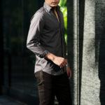 Finamore (フィナモレ) SEUL ITALIAN COLOR COTTON POPLIN SHIRTS コットンポプリン ワンピースカラー シャツ GRAY (グレー・42) made in italy (イタリア製) 2021 春夏 【ご予約開始】のイメージ