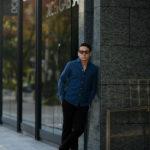 Finamore (フィナモレ) SEUL ITALIAN COLOR DENIM SHIRTS デニム ワンピースカラー シャツ BLEACH (ブリーチ・01) made in italy (イタリア製) 2021春夏新作 【入荷しました】【フリー分発売開始】のイメージ