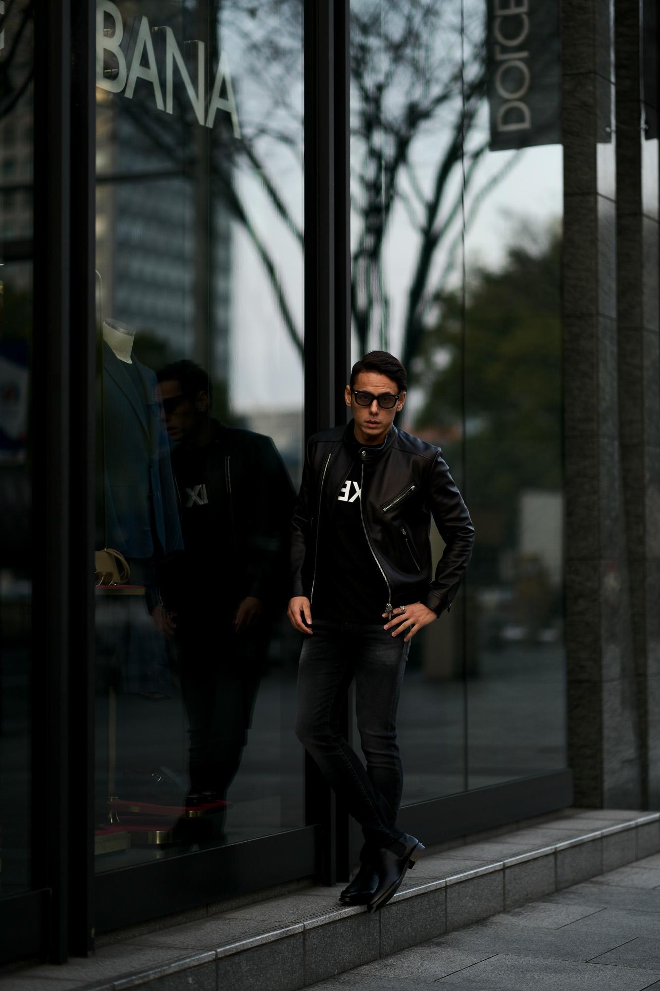 FIXER(フィクサー) F1(エフワン) DOUBLE RIDERS Cow Leather ダブルライダース ジャケット BLACK(ブラック) 愛知 名古屋 altoediritto アルトエデリット ライダースコーデ レザージャケット レザーコーデ