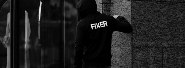 FIXER (フィクサー) FPK-01(エフピーケー01) Zip Up Hoodie ジップアップフーディー(バックプリント) BLACK (ブラック) 【ご予約開始します】【2020.12.18(Fri)~2020.12.26(Sat)】のイメージ