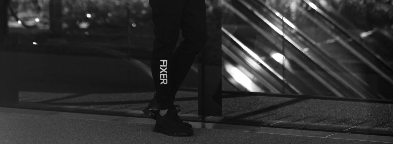 FIXER (フィクサー) FPT-01(エフピーティー01) Technical Jersey Jogger Pants テクニカルジャージー ジョガーパンツ BLACK (ブラック)のイメージ