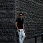 nomiamo (ノミアモ) Key Neck T-shirt 60/1 Super 100's Wool ウォッシャブルウール キーネックTシャツ BLACK (ブラック) 2021 春夏 【Alto e Diritto別注】【Special限定モデル】【ご予約受付中】のイメージ