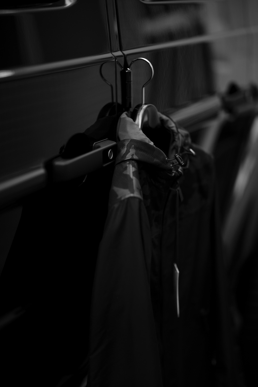 ALTACRUNA (アルタクルーナ) Camouflage Leather Hoodie Jacket (カモフラージュ レザー フーディー ジャケット) Lamb Leather ラムレザー × ナイロン フーディー ジャケット NERO (ブラック・0490) Made in italy (イタリア製) 2021 春夏 愛知 名古屋 Alto e Diritto altoediritto アルトエデリット ナイロンジャケット