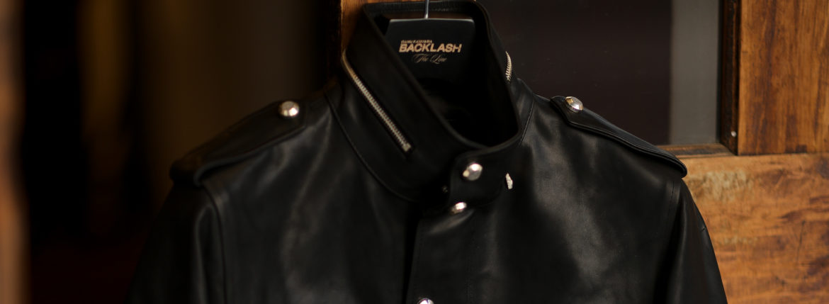 "BACKLASH The Line ""T-233"" 925 STERLING SILVER guidi CALF LEATHER BLACK 【2021 秋冬 受注会開催 2021.1.15~2021.1.17】のイメージ"