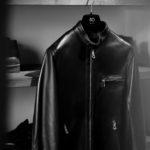 CINQUANTA(チンクアンタ) H502 STAND COLLAR RIDERS (スタンド カラー ジャケット) NAPPA LEATHER ナッパレザー シングル ライダース ジャケット BLACK SILVER (ブラックシルバー) Made in italy (イタリア製) 2021 春夏新作 【入荷しました】【発売開始】愛知 名古屋 altoediritto アルトエデリット レザーコーデ ライダースコーデ レザージャケット