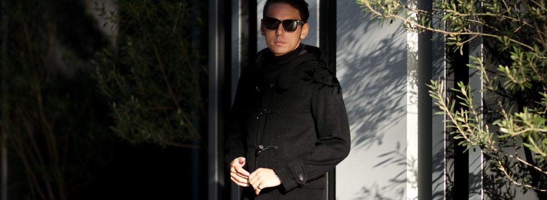 cuervo bopoha (クエルボ ヴァローナ) Sartoria Collection (サルトリア コレクション) David (デヴィッド) Cashmere カシミア ダッフルコート BLACK (ブラック) MADE IN JAPAN (日本製) 2021 【Special Model】【ご予約受付中】のイメージ