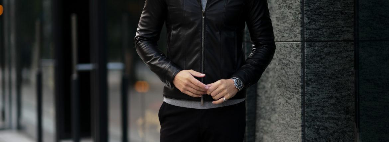 cuervo bopoha (クエルボ ヴァローナ) Satisfaction Leather Collection (サティスファクション レザー コレクション) JACK (ジャック) LAMB LEATHER (ラムスキン) レザージャケット BLACK (ブラック) MADE IN JAPAN (日本製) 2021 【Special Model】 愛知 名古屋 altoediritto アルトエデリット