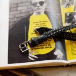 cuervo bopoha (クエルボ ヴァローナ) Sartoria Collection (サルトリア コレクション) Lance (ランス) Cow Hide Leather (カウハイド レザー) メッシュベルト BLACK (ブラック) Made in Italy (イタリア製) 2021 新作のイメージ