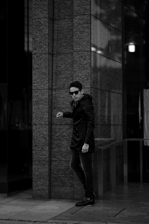 cuervo bopoha (クエルボ ヴァローナ) Sartoria Collection (サルトリア コレクション) Liam (リアム) LIMONTA NYLON (リモンタ ナイロン) ナイロン モッズコート BLACK (ブラック) MADE IN JAPAN (日本製) 2021 愛知 名古屋 Alto e Diritto altoediritto アルトエデリット コート mozcoat ナイロンコート ロングコート