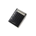 cuervo bopoha (クエルボ ヴァローナ) Thelonious (セロニアス) Crocodile Leather (クロコダイルレザー) カードケース BLACK (ブラック) Made in Japan (日本製) 2021のイメージ