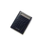 cuervo bopoha (クエルボ ヴァローナ) Thelonious (セロニアス) Crocodile Leather (クロコダイルレザー) カードケースNAVY (ネイビー) Made in Japan (日本製) 2021のイメージ