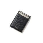 cuervo bopoha (クエルボ ヴァローナ) Thelonious (セロニアス) Python Leather (パイソンレザー) カードケース BLACK (ブラック) Made in Japan (日本製) 2021のイメージ