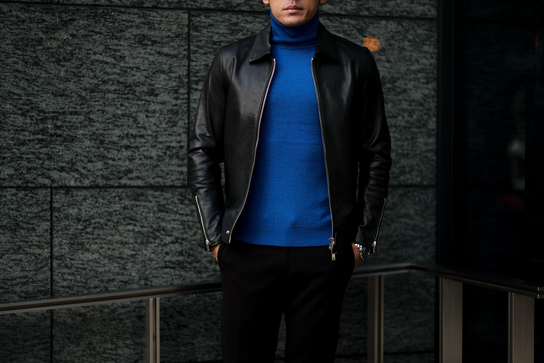 cuervo bopoha (クエルボ ヴァローナ) Satisfaction Leather Collection (サティスファクション レザー コレクション) TOM (トム) BUFFALO LEATHER (バッファロー レザー) シングル ライダース ジャケット BLACK (ブラック) MADE IN JAPAN (日本製) 2021 クエルボ レザージャケット 愛知 名古屋 alto e diritto アルトエデリット セレクトショップ