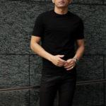 FEDELI(フェデリ) Crew Neck T-shirt (クルーネック Tシャツ) ギザコットン Tシャツ BLACK (ブラック・36) made in italy (イタリア製) 2021 春夏【ご予約受付中】のイメージ