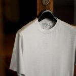 FEDELI(フェデリ) Crew Neck T-shirt (クルーネック Tシャツ) ギザコットン Tシャツ GRAY (グレー・55) made in italy (イタリア製) 2021 春夏【ご予約受付中】のイメージ