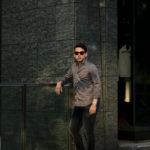 Finamore (フィナモレ) SEUL ITALIAN COLOR COTTON POPLIN SHIRTS コットンポプリン ワンピースカラー シャツ GRAY (グレー・42) made in italy (イタリア製) 2021 春夏 愛知 名古屋 altoediritto アルトエデリット