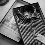 Finamore (フィナモレ) SEUL ITALIAN COLOR STRIPE SHIRTS (イタリアンカラーストライプシャツ) THOMAS MASON COTTON POPLIN RANDOM STRIPE (トーマスメイソン コットンポプリン ランダムストライプ) ワンピースカラー シャツ BLACK×WHITE (ブラック×ホワイト・01) made in italy (イタリア製) 2021 春夏【Alto e Diritto別注】【Special Model】 愛知 名古屋 Alto e Diritto altoediritto アルトエデリット シャツ ストライプシャツ