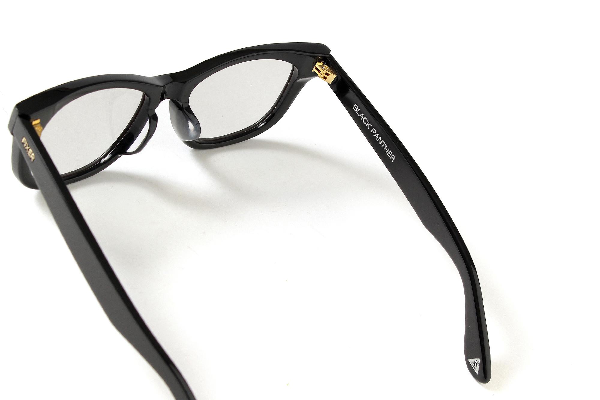 FIXER(フィクサー) BLACK PANTHER(ブラックパンサー) 18K GOLD サングラス BLACK × LIGHT GRAY (ブラック×ライトグレー) 【Special Model】【ご予約受付中】 愛知 名古屋 Alto e Diritto altoediritto アルトエデリット