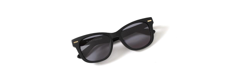 FIXER(フィクサー) BLACK PANTHER(ブラックパンサー) 18K GOLD サングラス MATTE BLACK × BLACK SMOKE (マットブラック×ブラックスモーク) 【Special Model】【ご予約受付中】のイメージ