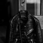 FIXER(フィクサー) F1 CROCODILE(エフワン クロコダイル) DOUBLE RIDERS Crocodile クロコダイル エキゾチックレザー ダブルライダース ジャケット BLACK(ブラック) 【Special Special Special Model】愛知 名古屋 Alto e Diritto altoediritto アルトエデリット クロコレザー