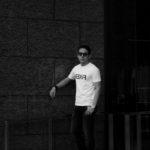FIXER (フィクサー) FTS-03 Reverse Print Crew Neck T-shirt リバースプリント Tシャツ WHITE (ホワイト) 【SOLD OUT】のイメージ