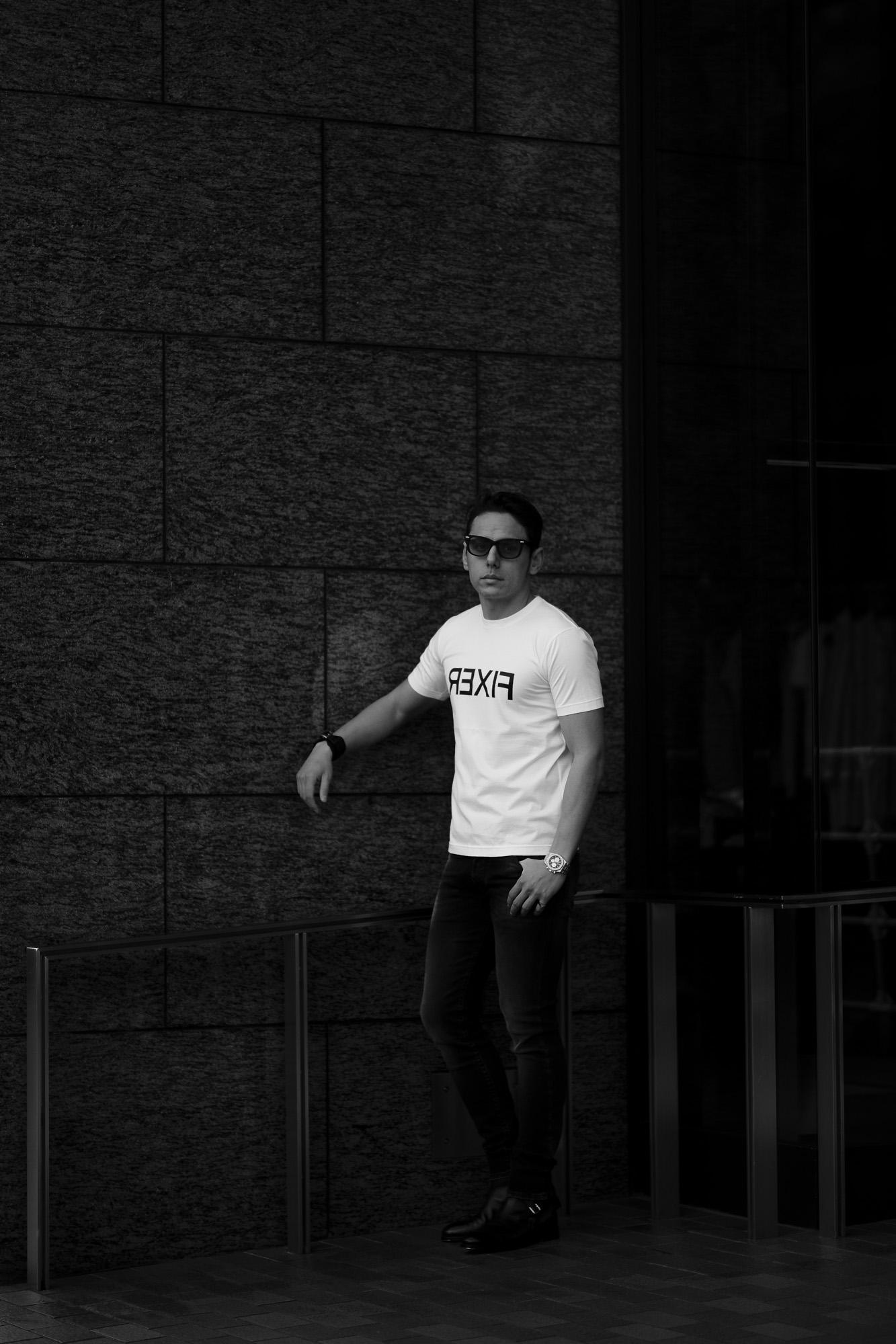 FIXER (フィクサー) FTS-03 Reverse Print Crew Neck T-shirt リバースプリント Tシャツ WHITE (ホワイト) 愛知 名古屋 Alto e Diritto altoediritto アルトエデリット Tシャツ