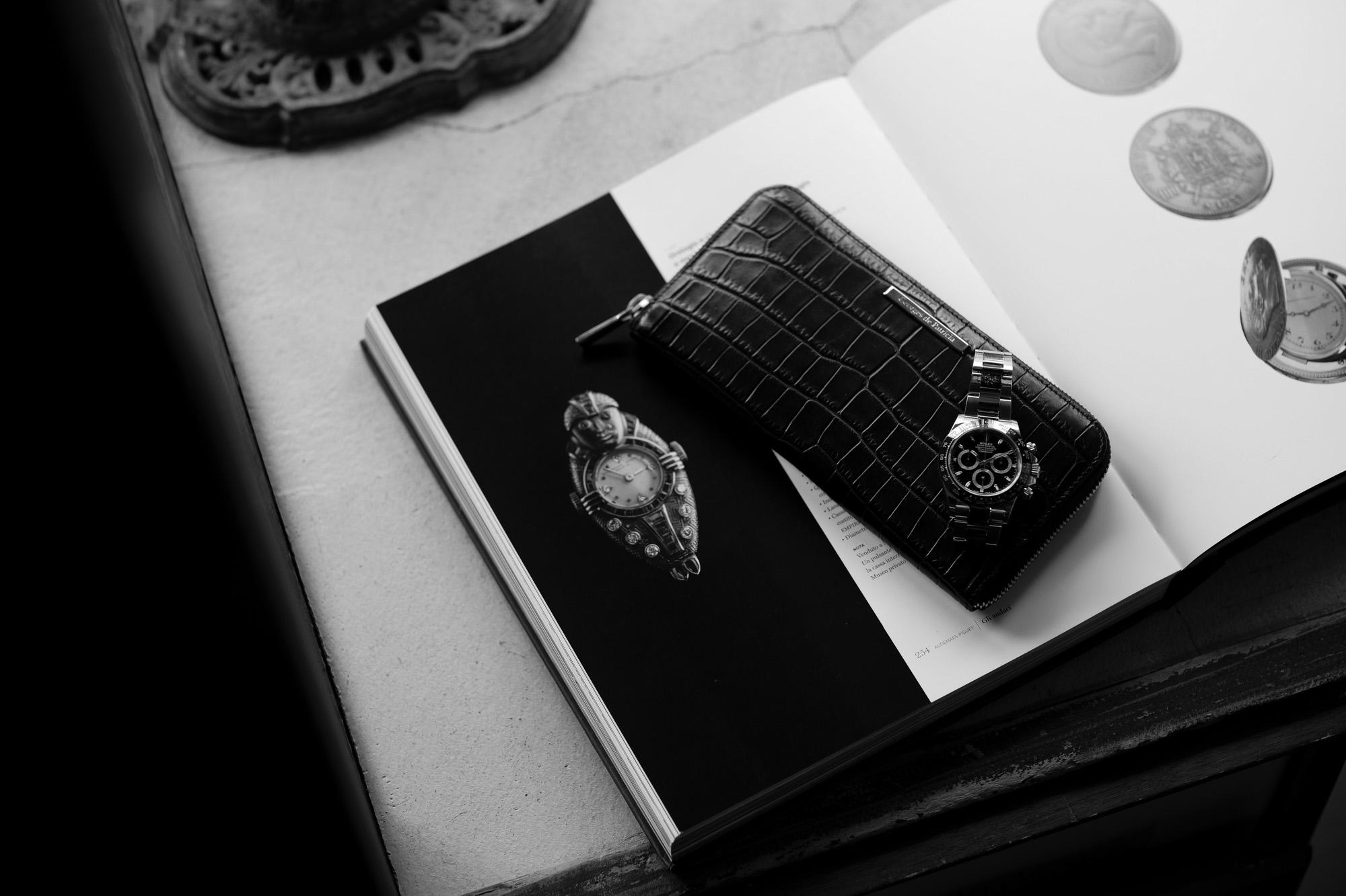 Georges de Patricia(ジョルジュ ド パトリシア) Phantom Crocodile Long (ファントム クロコダイル ロング) 925 STERLING SILVER (925 スターリングシルバー) Niloticus Crocodile ニロティカス クロコダイル エキゾチックレザー ロング ウォレット NOIR (ブラック) 2021【Special Model】ジョルジュ ド パトリシア ファントム クロコダイル ロング 925 スターリングシルバー ニロティカス クロコダイル エキゾチックレザー ロングウォレット 愛知 名古屋 altoediritto アルトエデリット 財布 長財布 rolex ロレックス daytona デイトナ ROLEX COSMOGRAPH DAYTONA 116500LN