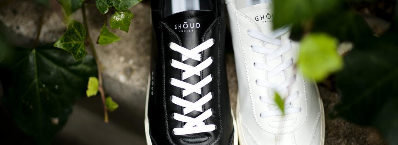 GHOUD(ゴード) LOB01 LOW MAN レザースニーカー BLACK/WHITE(ブラック/ホワイト),WHITE/WHITE(ホワイト/ホワイト) 2021 春夏 【ご予約受付中】のイメージ