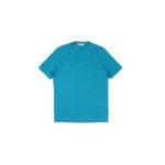 Gran Sasso (グランサッソ) Crew Neck T-shirt (クルーネック Tシャツ) Mercerised Cotton マーセライズドコットン Tシャツ TURQUOISE (ターコイズ・546) made in italy (イタリア製) 2021春夏新作のイメージ