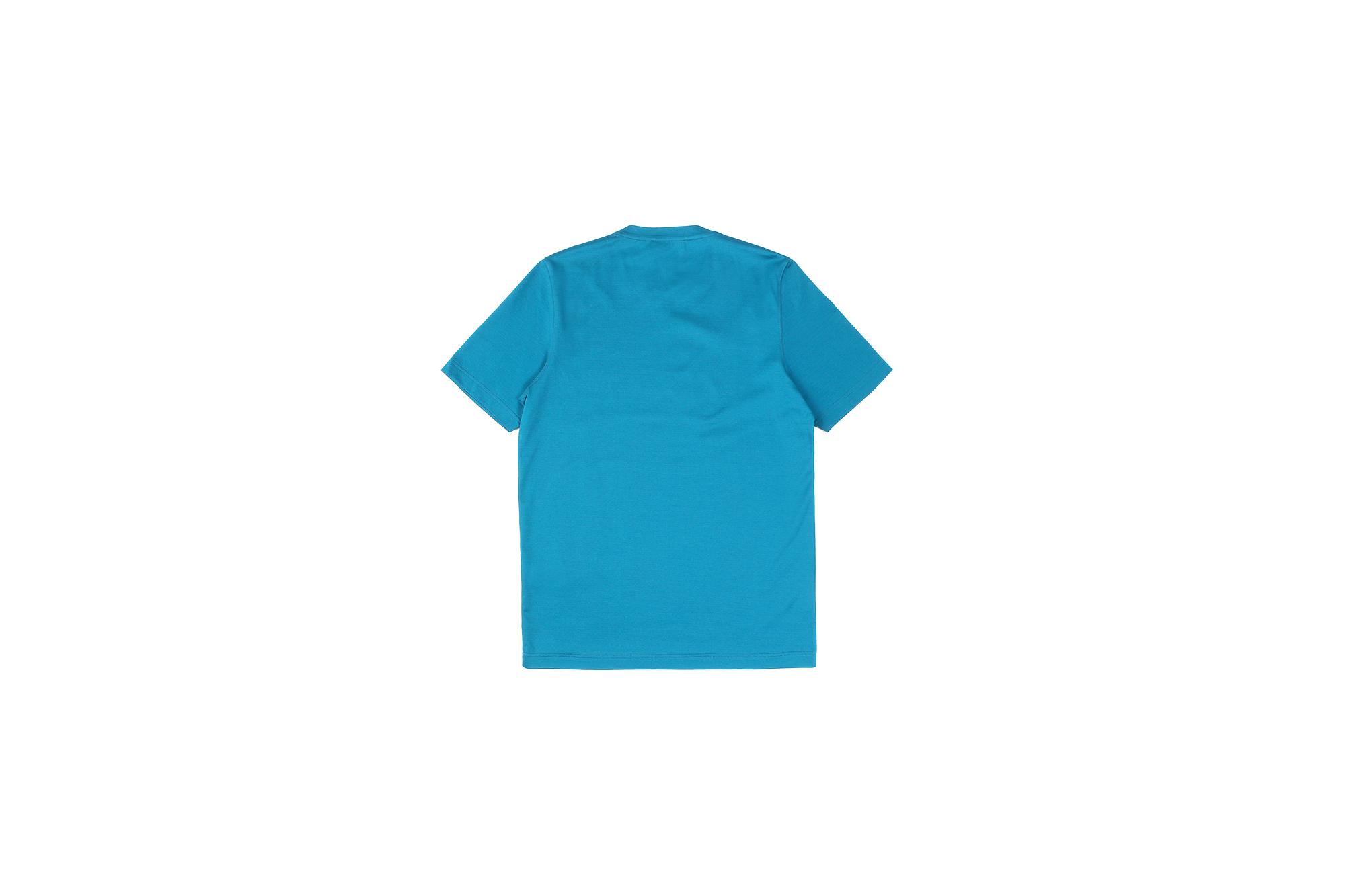 Gran Sasso (グランサッソ) Crew Neck T-shirt (クルーネック Tシャツ) Mercerised Cotton マーセライズドコットン Tシャツ TURQUOISE (ターコイズ・546) made in italy (イタリア製) 2021春夏新作 gransasso 愛知 名古屋 Alto e Diritto altoediritto アルトエデリット TEE