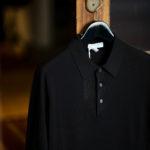 Gran Sasso (グランサッソ) Silk Knit Polo Shirt (シルクニットポロシャツ) SETA (シルク 100%) シルク ニット ポロシャツ BLACK (ブラック・099) made in italy (イタリア製) 2021 春夏新作 【入荷しました】【フリー分発売開始】 愛知 名古屋 Alto e Diritto altoediritto アルトエデリット