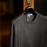 Gran Sasso (グランサッソ) Silk Knit T-shirt (シルクニット Tシャツ) SETA (シルク 100%) ショートスリーブ シルク ニット Tシャツ GREY (グレー・097) made in italy (イタリア製) 2021 春夏新作 【入荷しました】【フリー分発売開始】のイメージ