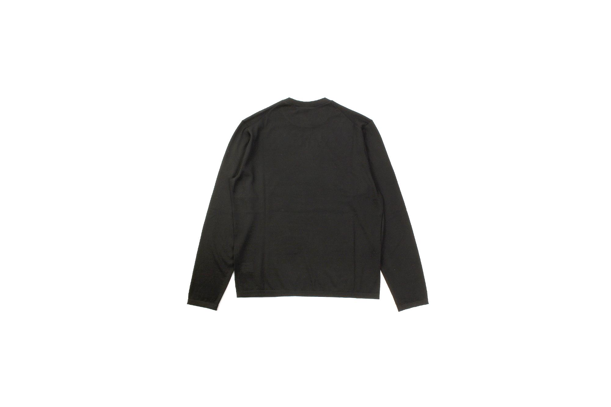 MANRICO CASHMERE (マンリコ カシミア) Ultra light Cashmere Crew Neck LS T-Shirts (ウルトラライトカシミア クルーネック ロングスリーブ Tシャツ) ハイゲージ カシミヤ サマーニット ロングスリーブ Tシャツ made in italy (イタリア製) 2021 春夏 【ご予約受付中】【全16色】愛知 名古屋 Alto e Diritto アルトエデリット