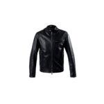 SILENCE (サイレンス) Single Leather Jacket (シングルレザー ジャケット) Goatskin Leather (ゴートスキンレザー) シングル ライダース ジャケット NERO GOLD ZIP (ブラックゴールドジップ) Made in italy (イタリア製) 2021 春夏新作のイメージ