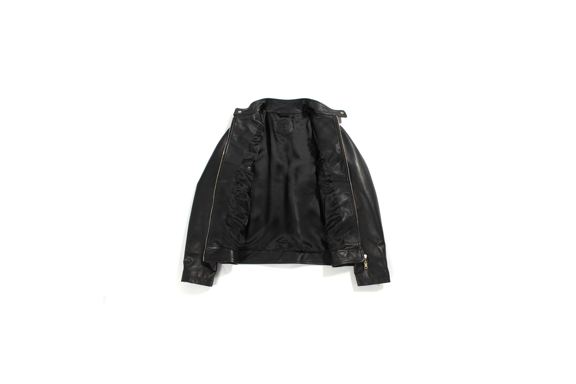 SILENCE (サイレンス) Single Leather Jacket (シングルレザー ジャケット) Goatskin Leather (ゴートスキンレザー) シングル ライダース ジャケット NERO GOLD ZIP (ブラックゴールドジップ) Made in italy (イタリア製) 2021 春夏新作 【入荷しました】【フリー分発売開始】愛知 名古屋 Alto e Diritto altoediritto アルトエデリット レザージャケット