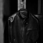 SILENCE (サイレンス) Single Leather Jacket (シングルレザー ジャケット) Goatskin Leather (ゴートスキンレザー) シングル ライダース ジャケット NERO GOLD ZIP (ブラックゴールドジップ) Made in italy (イタリア製) 2021 春夏新作 【入荷しました】【フリー分発売開始】のイメージ