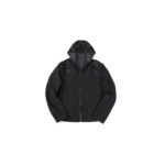 ALTACRUNA (アルタクルーナ) Camouflage Leather Hoodie Jacket (カモフラージュ レザー フーディー ジャケット) Lamb Leather ラムレザー × ナイロン フーディー ジャケット NERO (ブラック・0490) Made in italy (イタリア製) 2021 春夏新作のイメージ
