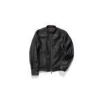 ALTACRUNA (アルタクルーナ) Reversible Leather Jacket (リバーシブル レザー ジャケット) Lamb Leather (ラムレザー) レザー × ナイロン リバーシブル シングルライダースジャケット NERO (ブラック・0010) Made in italy (イタリア製) 2021 春夏新作のイメージ