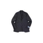 BELVEST (ベルベスト) LIGHTWEIGHT CAPSULE SINGLE JACKET 2PATCH EXTRA FINE WOOL SUPER 150's WOOL シャドーチェック サマーウール ジャケット BLACK (ブラック) Made in italy (イタリア製) 2021 春夏新作のイメージ