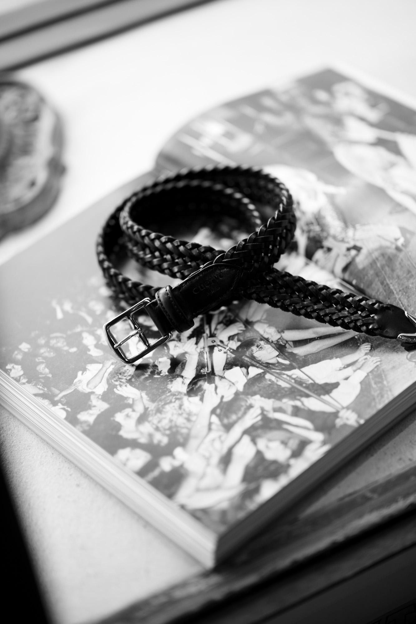 cuervo bopoha クエルボ ヴァローナ Sartoria Collection サルトリア コレクション Lance ランス Cow Hide Leather カウハイド レザー メッシュベルト BLACK ブラック Made in Italy イタリア製 2021 愛知 名古屋 altoediritto アルトエデリット ベルト 編み込みベルト Andy Warhol アンディウォーホル