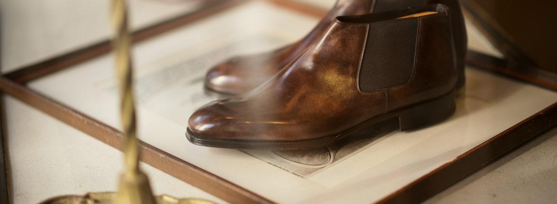 ENZO BONAFE (エンツォボナフェ) CARY GRANT III(ゲーリーグラント3) Du Puy Vitello デュプイ社ボックスカーフ Side gore Boots サイドゴアブーツ NERO (ブラック) made in italy (イタリア製) 2021 秋冬 【ご予約受付中】のイメージ