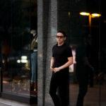 FEDELI(フェデリ) Crew Neck T-shirt (クルーネック Tシャツ) ギザコットン Tシャツ BLACK (ブラック・36) made in italy (イタリア製) 2021 春夏新作のイメージ