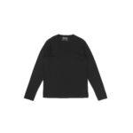FEDELI (フェデリ) Long Sleeve Crew Neck T-shirt (ロングスリーブ Tシャツ) ギザコットン ロングスリーブ Tシャツ BLACK (ブラック・36) made in italy (イタリア製) 2021 春夏新作のイメージ