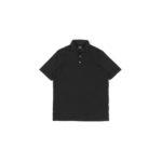 FEDELI (フェデリ) Polo Shirt GIZA45 (ポロシャツ) ギザコットン ポロシャツ BLACK (ブラック・36) made in italy (イタリア製) 2021 春夏新作のイメージ