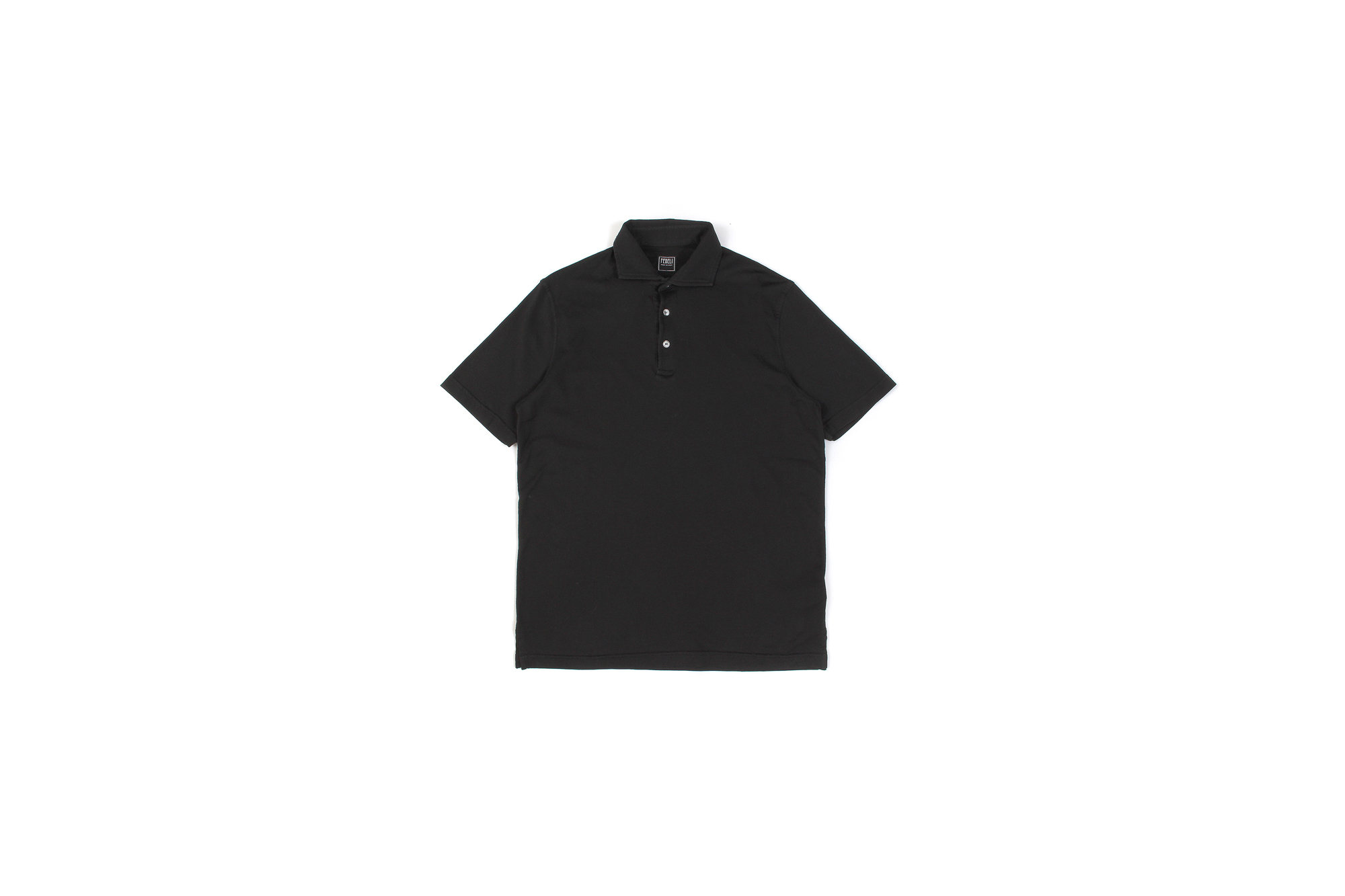 FEDELI (フェデリ) Polo Shirt GIZA45 (ポロシャツ) ギザコットン ポロシャツ BLACK (ブラック・36) made in italy (イタリア製) 2021 春夏新作 愛知 名古屋 Alto e Diritto altoediritto アルトエデリット 半袖ポロシャツ