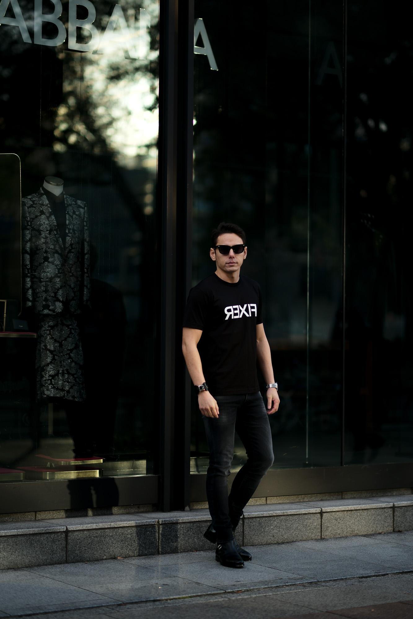 FIXER (フィクサー) FTS-03 Reverse Print Crew Neck T-shirt リバースプリント Tシャツ BLACK (ブラック) 愛知 名古屋 Alto e Diritto altoediritto アルトエデリット Tシャツ