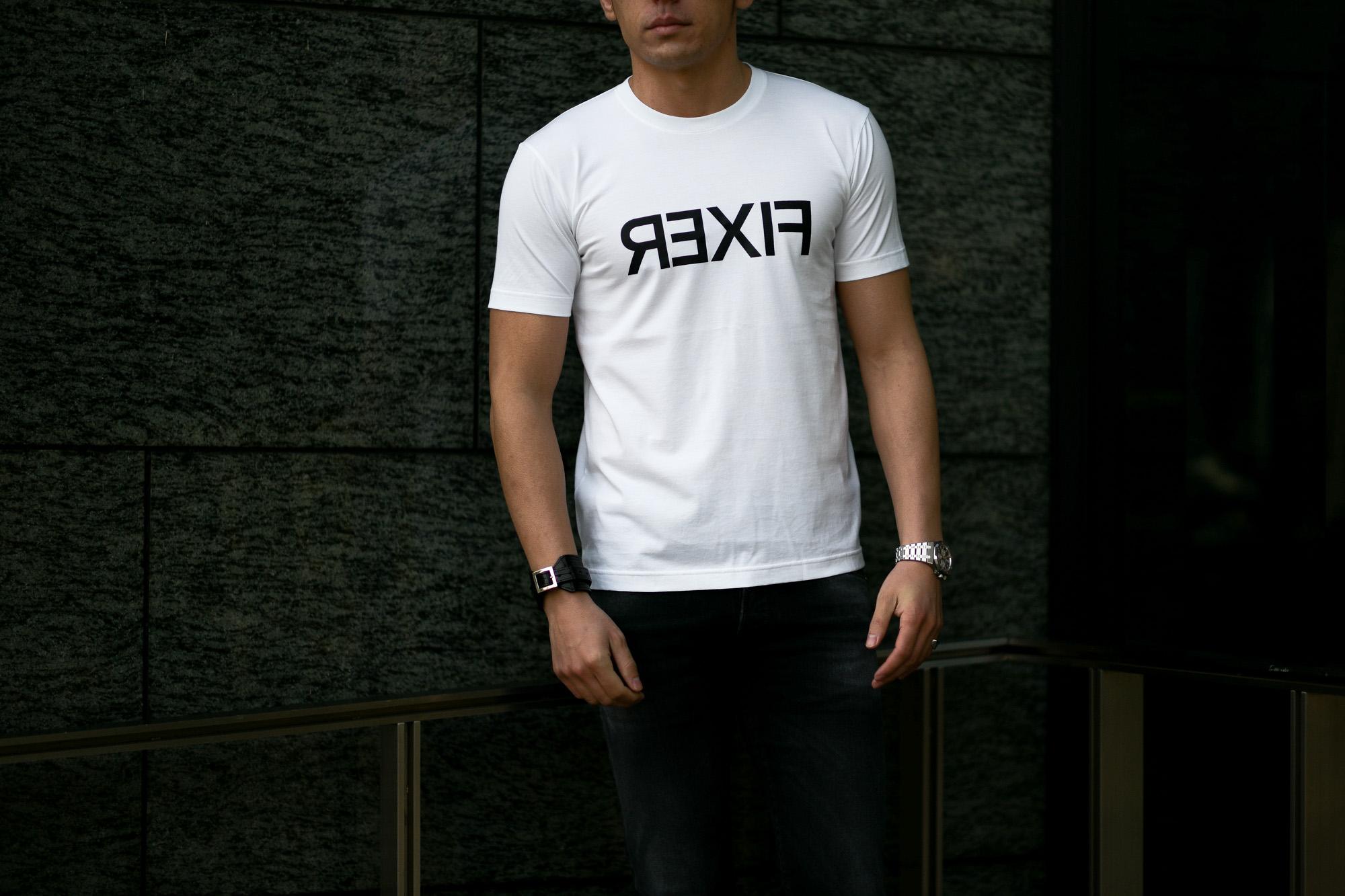 FIXER (フィクサー) FTS-03 Reverse Print Crew Neck T-shirt リバースプリント Tシャツ WHITE (ホワイト) 【ご予約受付中】【2021.2.15(Tue)~2021.2.28(Sun)】 愛知 名古屋 Alto e Diritto altoediritto アルトエデリット Tシャツ